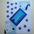 Hollaa holiday card: Happy Winter bears handmade ang