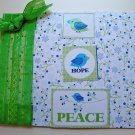 Hollaa holiday card: hope & peace birds handmade ang