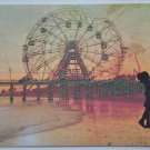 Hollaa Love card: Coney Island Romance handmade ann