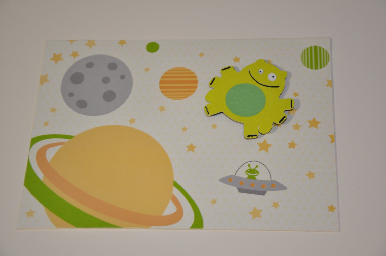Hollaa card: Out of this World space alien ann