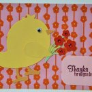 Hollaa Thank you card: Bird with Flowers ann
