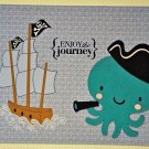 Hollaa farewell card: Pirate Octopus & ship: Enjoy the journey ann