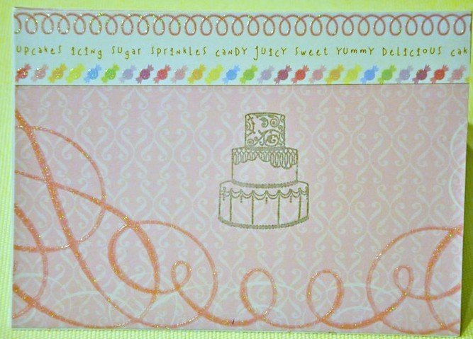 Hollaa wedding card: Sweet Cake handmade ang