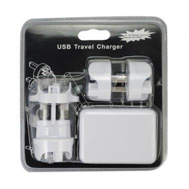 AS/US/EU/UK Plug USB Travel Charger with 4 USB Ports