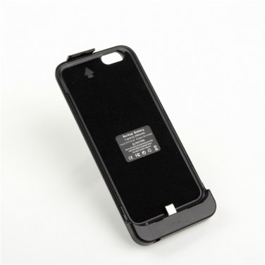 2800mAh External Charger Backup Battery Case w/ Stand for iPhone 6 - Black