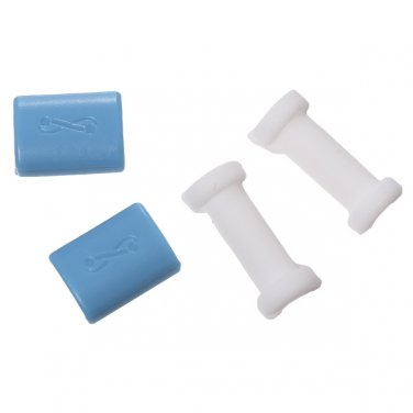 4pcs/set Silicone Charger Cable USB Protector Headset Cable Case for iPhone 5s 6 6 Plus Samsung