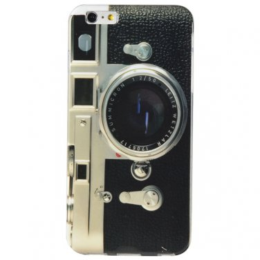 "5.5"" Plastic Stylish Simple Camera Pattern Hard Protective Back Cover Case for iPhone 6 Plus"