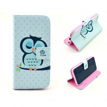 """2015 PU Leather Flip-up Personal Pattern Protector Case Stand Function Card Slots for 4.7"""" iPhone 6"""
