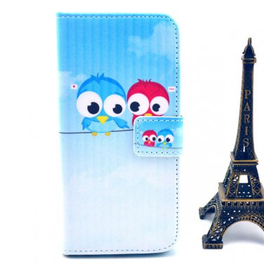 "PU Leather Flip-up Personal Pattern Protector Phone Case w/ Card Slots for 4.7"" iPhone 6"