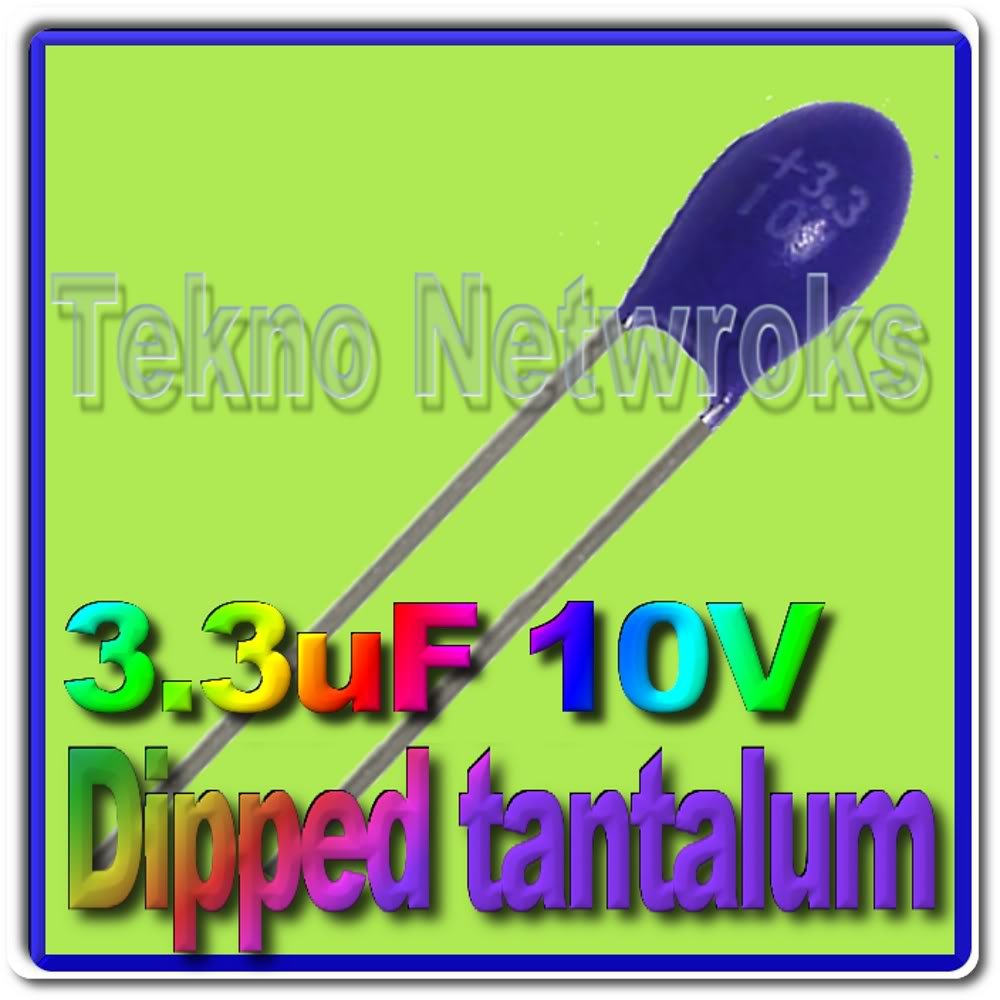 3,3uF 10V dipped Tantalum Capacitors USA+Tracking 20