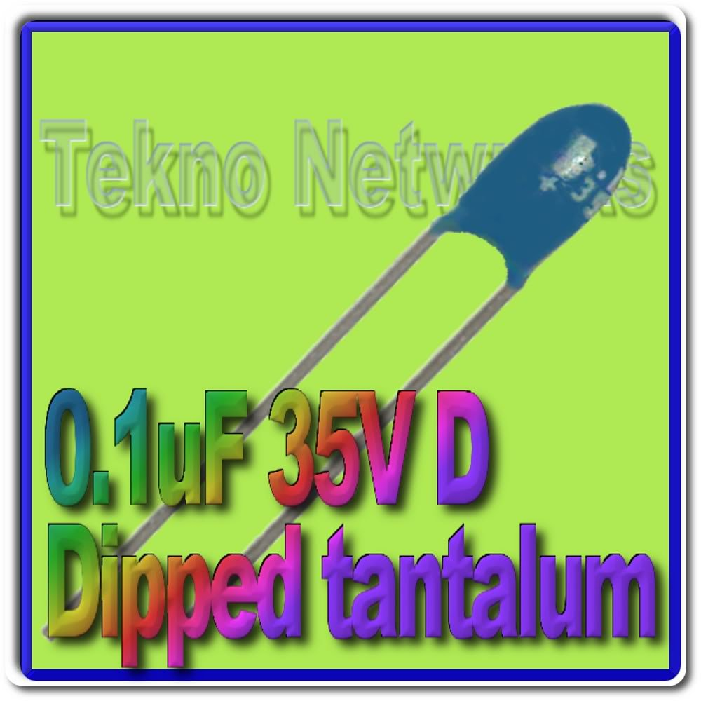 00.1uF 35V dipped Tantalum Capacitors USA+Tracking 25