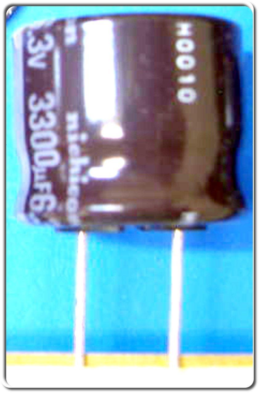 Nichicon 3300uF 6.3V 105°C Electrolytic capacitor 10pcs