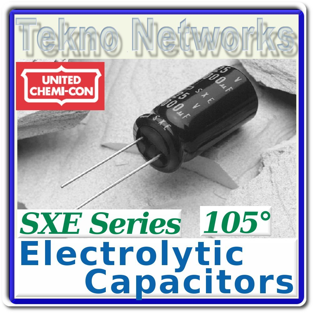 United Chemi - 100uF 35V 105° Electrolytic Caps - 20pcs