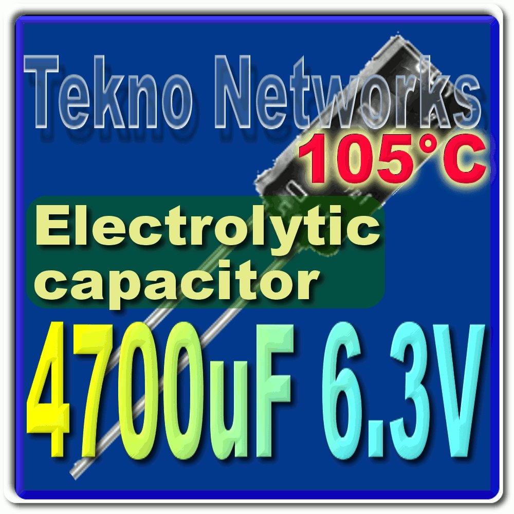 4700uF 6.3V Electrolytic Capacitor 105° USA+Track x10