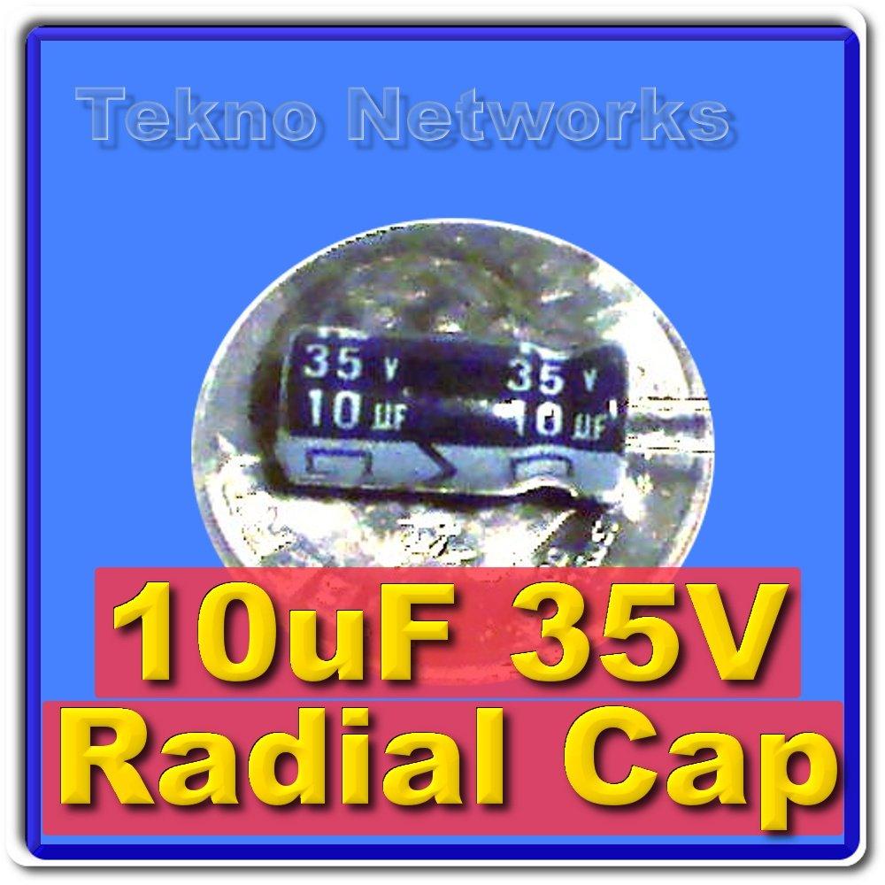 10uF 35V electrolytic Capacitor USA+Tracking 50pcs