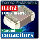KEMET 0402 62pF 50V C0G 5% Ceramic Capacitors 300pcs