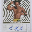 Kofi Kingston 2010 Topps WWE Certified Autographs Gold #d to 25