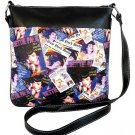 Bettie Page Collage Synthetic Leather Messenger Bag