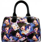 Bettie Page Collage Synthetic Leather Satchel