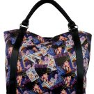 Bettie Page Collage Synthetic Leather Large Shopping Tote