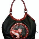 Bettie Page Vixen Synthetic Leather Large Handbag
