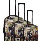Elvis Presley Lifetime Collage 3 Piece Upright Luggage Set