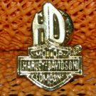 """Harley Davidson """"HD"""" Logo Raintree Buckles & Jewelry Inc. Collectible Gold Plated Lapel Pin"""
