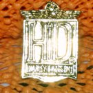 """Harley Davidson """"HD 2"""" Logo Raintree Buckles & Jewelry Inc. Collectible Gold Plated Lapel Pin"""
