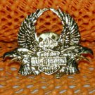 """Harley Davidson """"Dual Eagle"""" Logo Raintree Buckles & Jewelry Inc. Collectible Gold Plated Lapel Pin"""