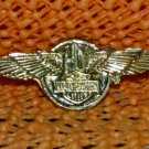 """Harley Davidson """"HD Wing 2"""" Logo Raintree Buckles & Jewelry Inc. Collectible Gold Plated Lapel Pin"""