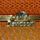 """Harley Davidson """"Print"""" Logo Raintree Buckles & Jewelry Inc. Collectible Gold Plated Lapel Pin"""