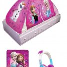"Disney Frozen ""Chillin & Groovin"" Girls 2 in 1 Twin Bed Tent and Playset w/ Headphones"