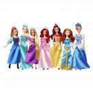 Disney Princess Ultimate Collection 7 Pack Anna Elsa Rapunzel Ariel Belle Merida Cinderella