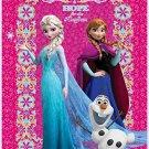"Disney Frozen Hope Sisters Elsa & Anna and Olaf the Snowman 60"" x 80"" Mink Blanket"