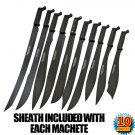 Takedown Undead Zombie Slayer Machete 10 Pc Set with Sheaths