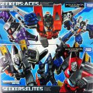 Takara Tomy Transformers Seekers Aces and Elites Set of 6 Decepticons