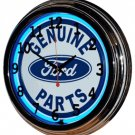 "Genuine Ford Parts 17"" Blue Neon Wall Clock"