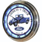 "Ford America's #1 Truck 17"" Blue Neon Wall Clock"