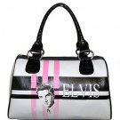 Elvis Pink Fifties Synthetic Leather Small Satchel