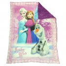 "42"" x 54 Frozen Hearts Sherpa Crib Blanket"