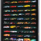 Hot Wheels/ Matchbox 1/64 scale Diecast Display Case Cabinet Wall Rack w/UV Protection -Black