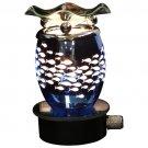 Blue Fish Cut Metal Plug In Oil Warmer