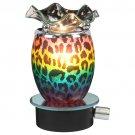 Rainbow Leopard Print Plug In Oil Warmer