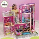 Girl's Deluxe Uptown Dollhouse with Furniture and Sound by KidKraft