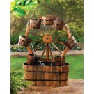 Country Charm Wagon Wheel Water Fountain