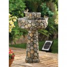 Cobblestone Look Wishing Well Solar Water Fountain