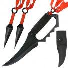 Naruto Inspired Asuma Sarutobi Full Tang Trench Knife Set with Sheath