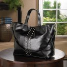Breezy Couture Cosmopolitan Style Adjustable Tote Bag- Black