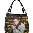 Elvis Presley Synthetic Leather Black Signature Medium Tote