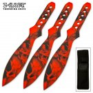 3pc Z Slayer throwing knife set- Red